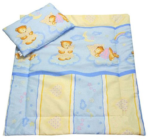 Bear On Blue Clouds Bassinet / Stroller Bedding