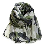Heyjewels Camouflage Military Pattern Scarf Soft Cotton Shawl Army Green