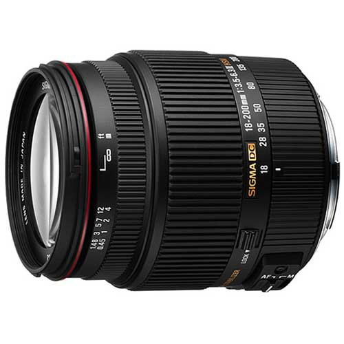 Sigma 18-200mm f/3.5-6.3 11 DC OS HSM Lense for