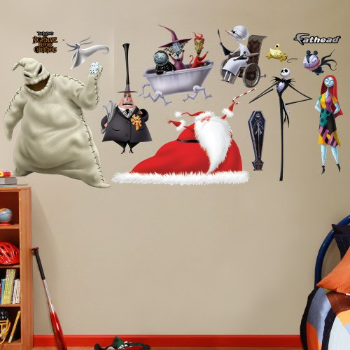 nightmare before christmas wall decals take a peek at. Black Bedroom Furniture Sets. Home Design Ideas