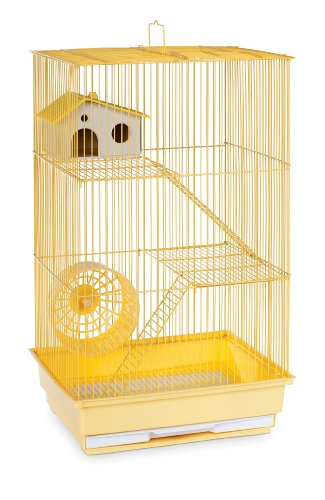 Three Story Hamster and Gerbil Cage - Yellow