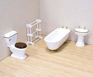 Melissa & Doug Deluxe Doll - House Bathroom Furniture