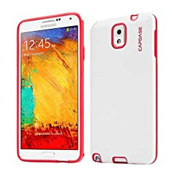 Capdase Soft Jacket Vika Case for Samsung Galaxy Note 3 N9000 (White/Red)
