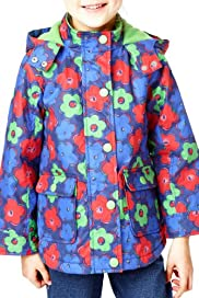 Pure Cotton Floral Hooded Coat [T77-7130W-S]
