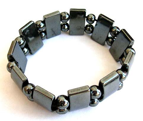 Awesome Elastic Metallic Sleek and Smooth Hematite Bracelet