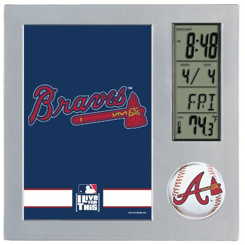 MLB Atlanta Braves Digital Desk Clock