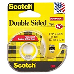 Scotch 137 Double-Sided Office Tape with Hand Dispenser, 1/2 x 450 Inches (137)
