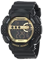 Armitron Men's 40/8270GBLK Sport Large Gold Accented Black Resin Strap Digital Chronograph Watch from Armitron