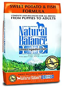 Dick Van Patten's Natural Balance Limited Ingredient Diets Sweet Potato and Fish Formula Dry Dog Food, 26-Pound Bag