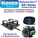 Kasco Marine Robust-Aire Aquatic Aeration System RA1 - For Ponds to 1.5 Surface Acres, 120 Volts, Includes Base Cabinet Mount