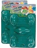 JELL-O Super Bowl Jigglers (2 Packs of 2 - 4 Total)