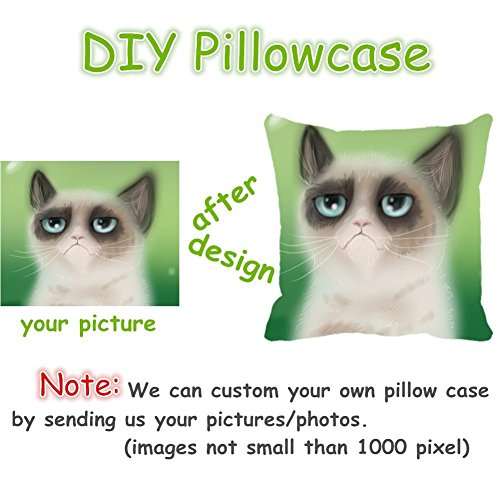 "18"" x 18"" Happy Pho Noodle Bowl Decorative Throw Pillow Case Cushion Cover"