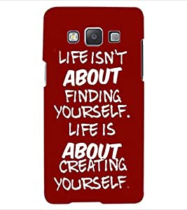 ColourCraft Quote Design Back Case Cover for SAMSUNG GALAXY A5 A500F