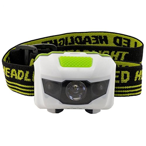 Foremost Popular Mini LED 300 Lumen Headlamp Pocket Light Portable Lamp Lightweight Color White and Green