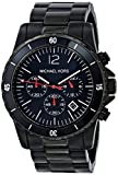 Michael Kors Fashion Men's Quartz Watch with Black Dial Chronograph Display and Black Stainless Steel Strap MK8161