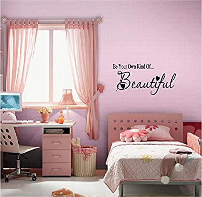 Quote It! - Be Your OWN Kind of Beautiful with Hearts Vinyl Wall Decals Quotes