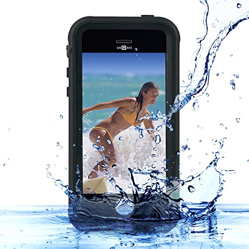 Gear Beast Waterproof Case for iPhone SE Waterproof, Dust Proof, Snow Proof Protective Case Anti-reflective Lens Photos and Sound (Jack Frost Iphone 5s Case compare prices)