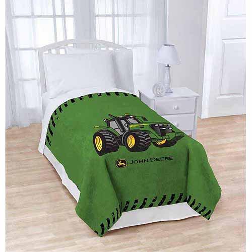 """John Deere 62"""" X 90"""" Plush Blanket - Oversized"""
