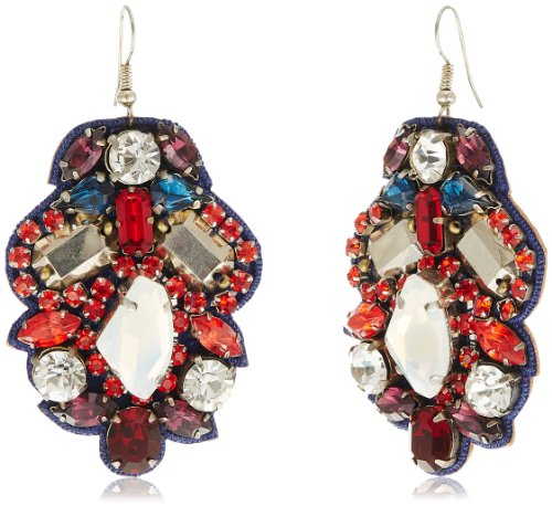 Meera Mittal Drop Earrings for Women (Multi-Color) (ER-STM5) (multicolor)