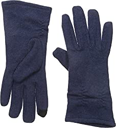 Gloves International Women's Wool Blend Gloves with Cinch, Navy, Small