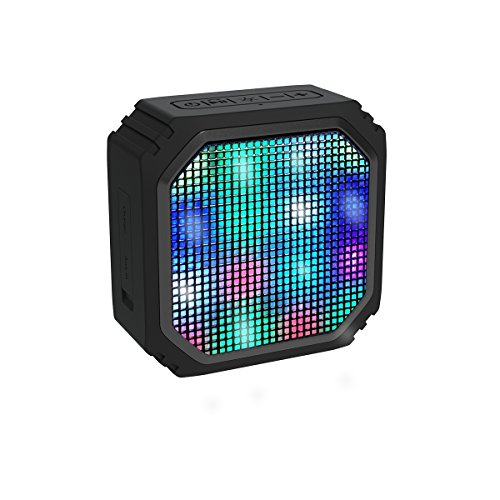 Tragbarer-Mini-Bluetooth-Lautsprecher-Aomais-Mode-Design-Kabelloser-Lautsprecher-mit-16-Farbige-LED-Lichter8-Stunden-Widergabedauer-fr-Android-HandyIphoneLaptopPCPADSchwarz