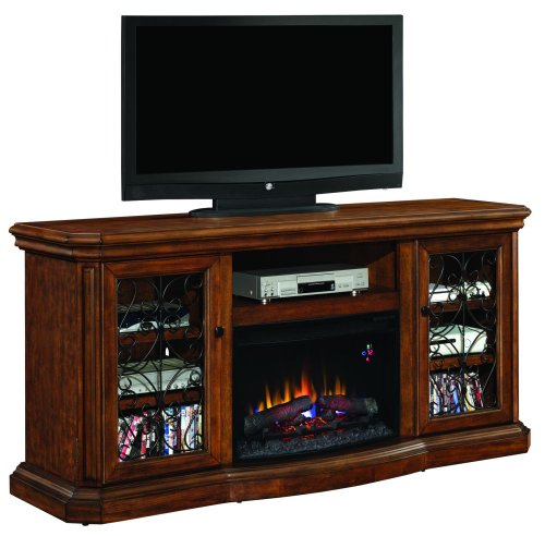 Classicflame Beauregard Electric Fireplace Entertainment Center In Antique Caramel - 25Mm5045-C326