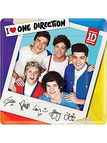 One Direction Large Square Plates (8ct)