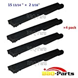 """26301(4-pack) Cast Iron Barbecue Gas Grill Replacement Burner for Mcm, Jennair, Lowes Model Grills (15 13/16"""" x 2 3/16"""")"""