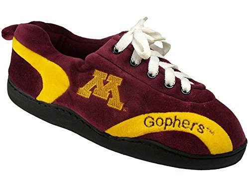 Happy Feet Mens and Womens Minessota Golden Gophers - All Around Slippers - Large (Comfy Feet Slippers Minnesota compare prices)