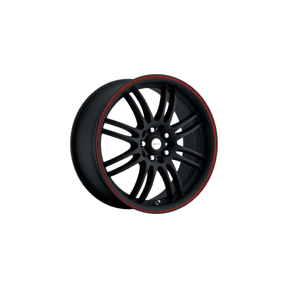 Focal Type 163 F16 FWD Matte Black Wheel with Red Stripe (18x8/5x100mm)