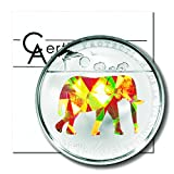 Togo Wildlife Protection Elephant 1000 Francs 2011 Color Prism Proof Silver Crown COA	0.7435 ASW