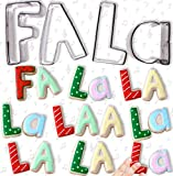 Celebrational SALE Christmas Cookie Cutters: Sing FA LA La in Cookies! 4 Piece Holiday Letter Set Shapes: F, A, L, a. Heavy Duty Stainless Steel.