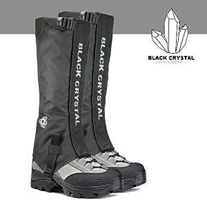 Buy Black Crystal Hiking Gaiters Waterproof Breathable Nylon Ladies Black Size Medium by Black Crystal Outdoor Equipment