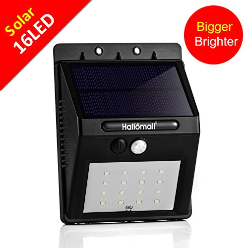 [Larger Version 16LED with Push-button Switch] Out of doors Sun Movement Lighting fixtures-Inbuilt 2200mah Rechargeable Lithium Battery-Movement Sensor Activated-For Patio Deck Backyard Lawn House,2 Modes