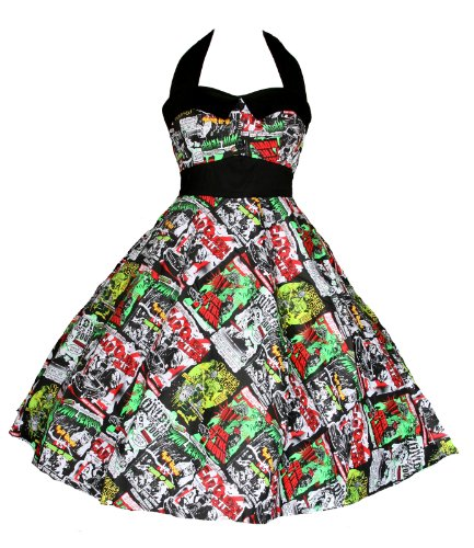 Hell Bunny B-Movie 50s Rockabilly Swing Dress