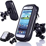 King of Flash Universal 360 Degree Rotating WaterProof Transparent Smartphone Bicycle Handle Bar Mount Pouch Holster Case for Mobiles Phones Black