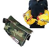 EYSON 新しいデザインフレータブルベルトタイプ 救命胴衣 ライフジャケット 手動膨張式 CCS認定済 (グリーン迷彩)