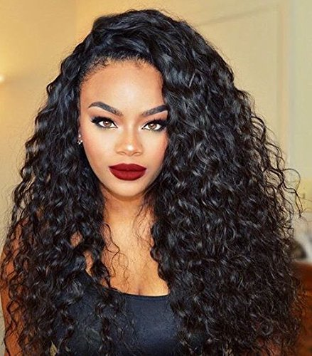 Mike & Mary Curly Wig Body Wave Lace Front Wigs Remy Brazilian Human Hair Wigs, Natural Wavy Curly Front Lace Wig for Black Women with Baby Hair (16inch, #2 Darkest Brown)