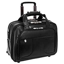 McKleinUSA CHICAGO 83585 Black 17 Detachable-Wheeled Laptop Overnight with Removable Brief