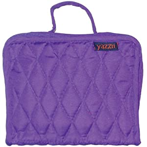 Yazzii Quilted Cotton Petite Organizer, Purple
