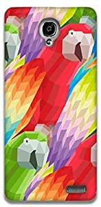 The Racoon Grip Parrots hard plastic printed back case / cover for Alcatel Onetouch Idol X 6040D