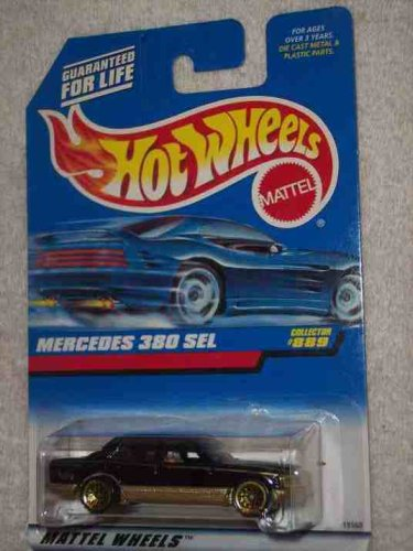 #889 Mercedes 380 SEL Malaysia Collectible Collector Car Mattel Hot Wheels 1:64 Scale - 1