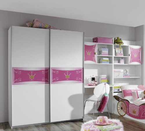 Rauch Kate Jugendzimmer Kombination 3-tlg. in alpinweiss – rosa