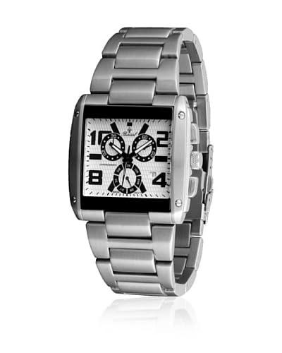 Bassel Reloj con movimiento cuarzo suizo CR4028B Plateado 42  mm
