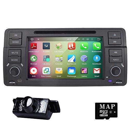 hizpo 7pollici Quad Core Android 5.1Lollipop Stereo Doppio Din Autoradio per BMW E46Serie supporto GPS Navigation SWC Auto Radio Audio Video iPod SD USB 3G WIFI OBD2cam-in DAB +