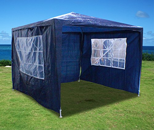 New 10'X10' Outdoor Party Wedding Tent Gazebo Events Pavilion - Blue front-1009511