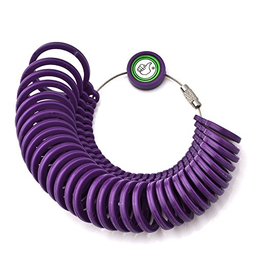 Charmed Craft Purple Finger Size Measuring Ring-Ring Sizing Sizer Plastic Gauge Circle Model Jewelry (Ring Size Chart Online compare prices)