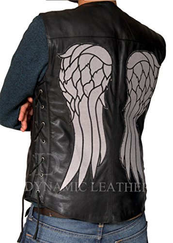 The Walking dead-daryl Dixon Ali d' angelo in finta pelle Gilet Giacca Black XXX-Large