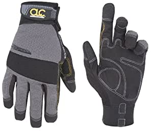 Custom Leathercraft 125L Handyman Flex Grip Work Gloves, Large
