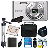 Sony DSC-W830 Digital Camera (Silver) + Pixi-Advanced Accessory Bundle (International Version)